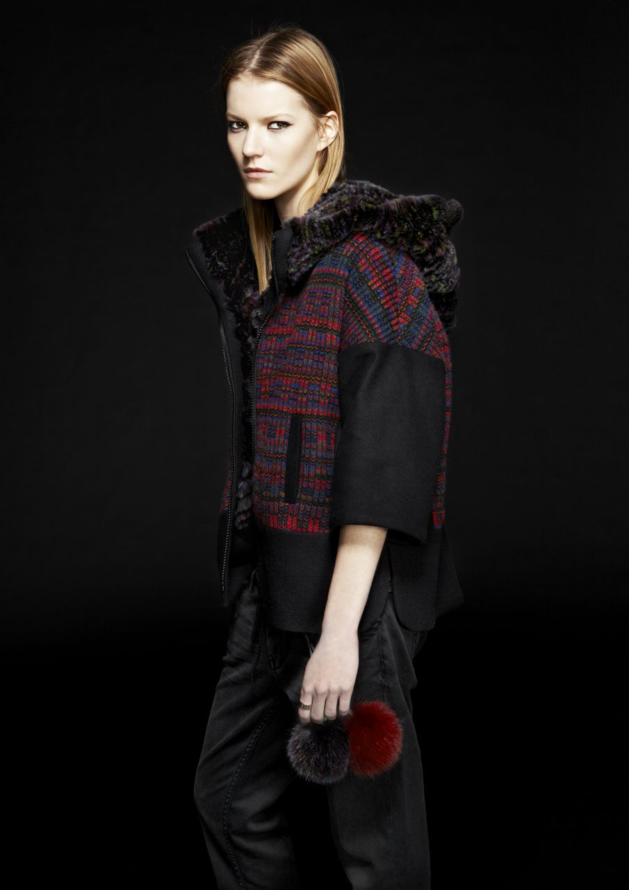 agatha reversible jacket rex rabbit & wool